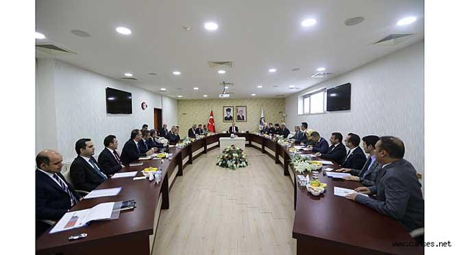 Valilikte Genel Asayiş Toplantısı Gerçekleştirildi