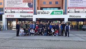 23. Meslek Komitesi Fatih MTAL öğrencileri Bursa Metal ve Sac İşleme Fuarı'ndaydı
