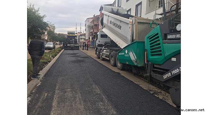 Karasu'da İstiklal ve Mevlana Caddeleri yenileniyor