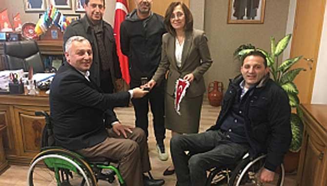 Selim ÖZEN Mhp Genel Merkez Ziyareti Engelli Sporcu ve Spor Kulüpleri için önemli yasal bir düzenleme talebi