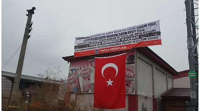 ''TOPÇA KAVŞAĞI BİTMEDEN SEVGİ SELİ BAŞLADI''