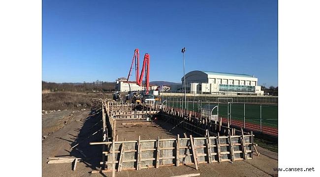 400 kişilik yeni tribün inşa ediliyor
