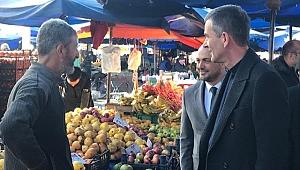 Dikbayır Serdivan Pazarı'nda sıkıntıları dinledi