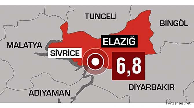 Elazığ'da çok şiddetli deprem!
