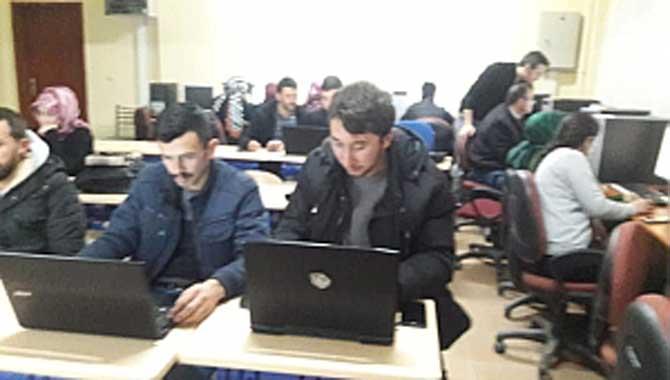 Taraklı'da Bilgisayar ve İlk yardım kursuna yoğun İlgi