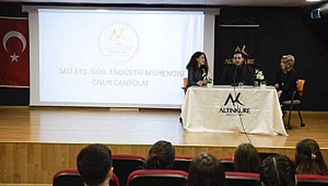 Altınküre Lisesi'nde Endüstri Mühendisliği Konuşuldu