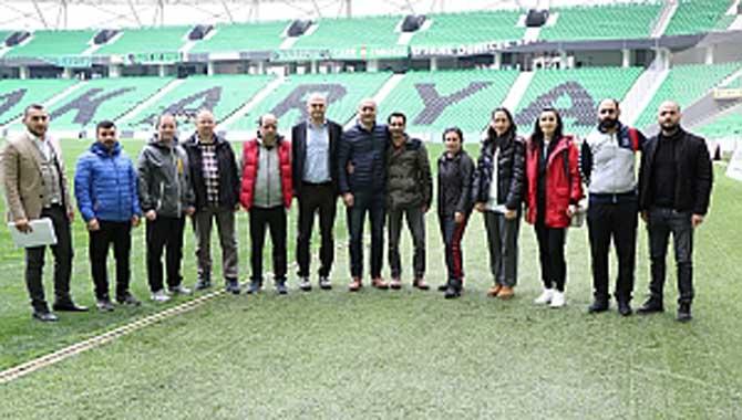 İl Antrenörleri '' Yaşayan Stadyum '' Projesi Kapsamında Yeni Stadyumu Gezdi