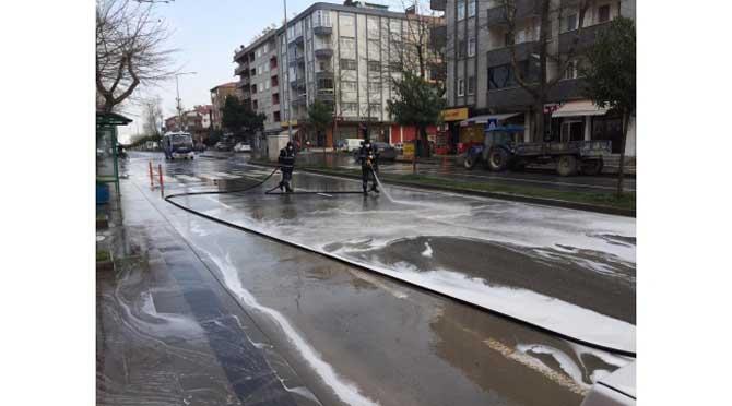 """""""Karasu Belediyesi Hijyen ve Dezenfekte Çalışmalarını Sürdürüyor"""""""