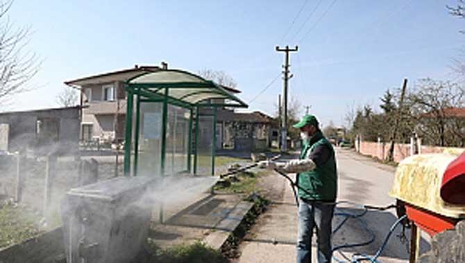 Kırsal Mahallelerde Dezenfekte Başladı