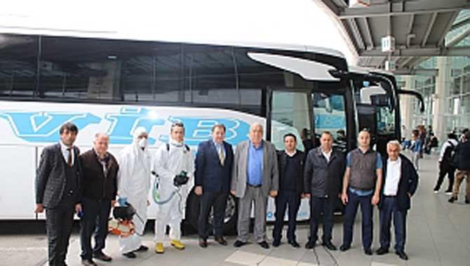Sakarya VİB, tüm otobüslerini koronavirüse karşı tedbirini aldı