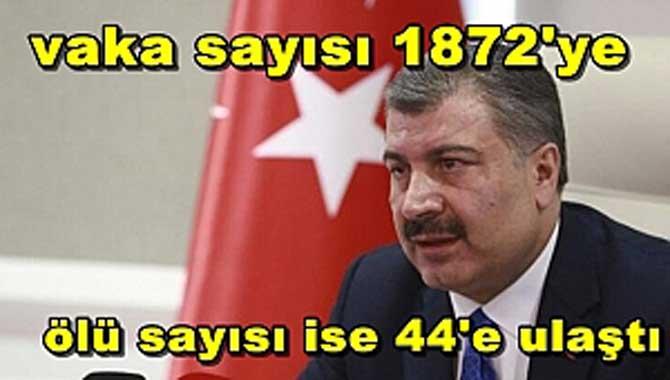 Türkiye'deki güncel corona virüsü vaka sayısı
