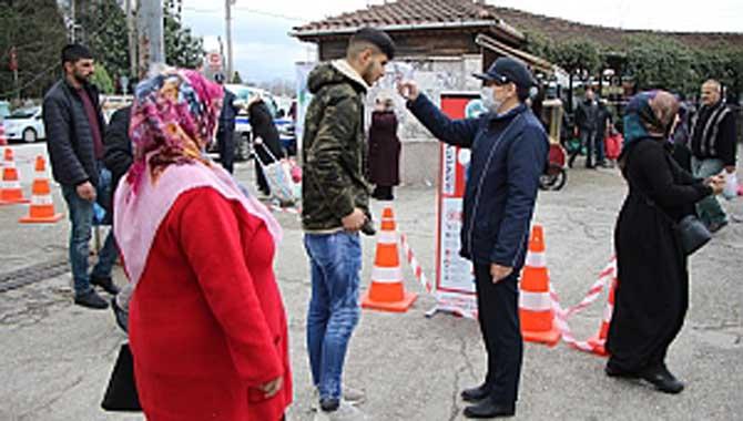 Akyazı Belediyesi Pazaryeri Zabıta denetim ve mobil dezenfektan noktaları