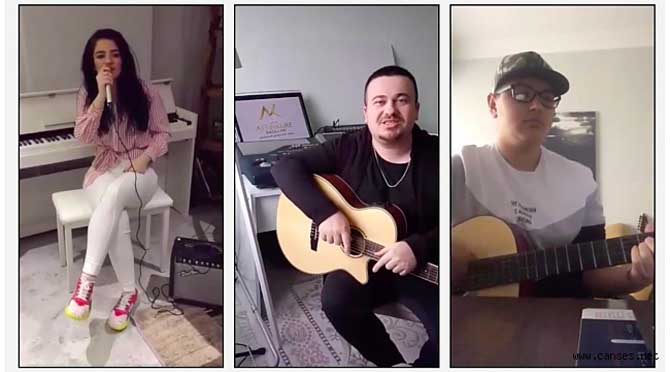 Altınküre Lisesi Müzik Öğretmeni ve Öğrencilerinden 'Evde Kal' Şarkısı