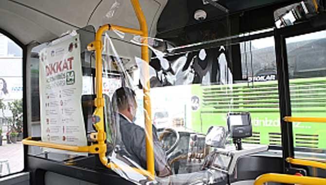 Belediye otobüslerinde Korona virüse karşı brandalı önlem