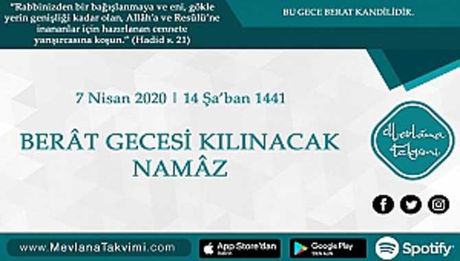 BERÂT GECESİ KILINACAK NAMÂZ