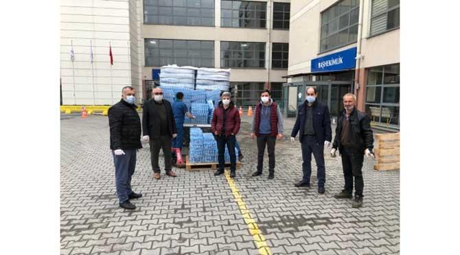 Trabzonlular Derneği'nin sağlık çalışanlarına yardımları sürüyor