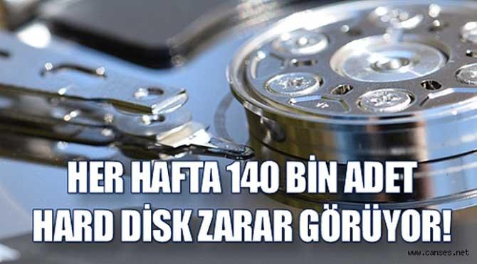 HER HAFTA 140 BİN ADET HARD DİSK ZARAR GÖRÜYOR!