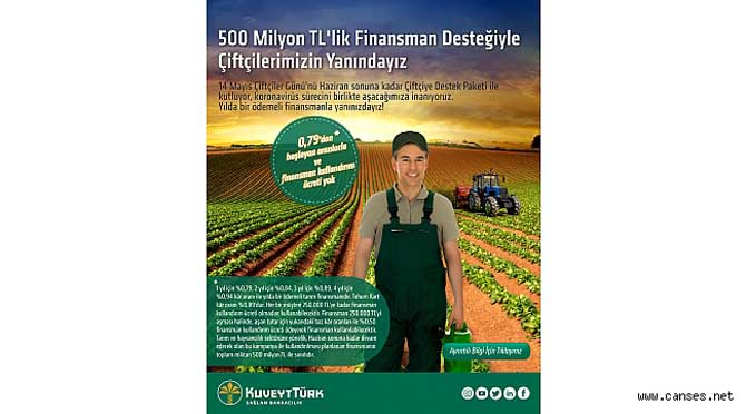 Kuveyt Türk'ten çiftçilere 500 milyon TL'lik finansman desteği