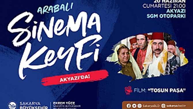 Arabalı sinema etkinliği Akyazı'da