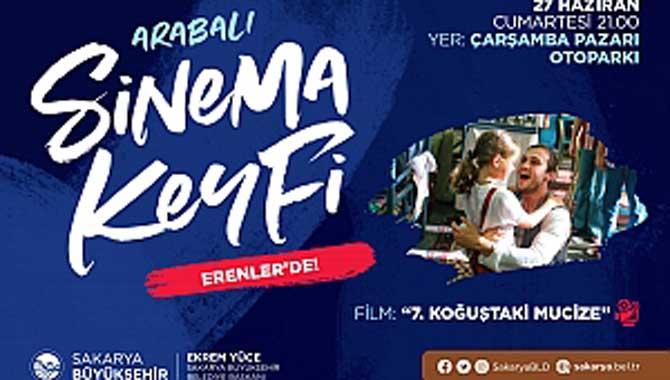 Arabalı sinema etkinliği Erenler'de devam edecek