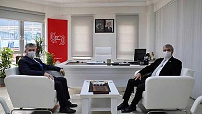 Başkan Yüce'den BİK Şube Müdürü Çorbacı'ya ziyaret