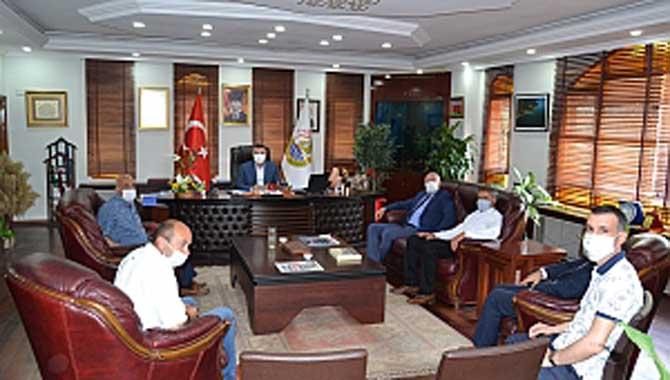 Başkanların, Başkan Özen'e Ziyareti