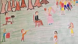 Nuri Bayar Ortaokulu'ndan Sene Sonu Resim Sergisi