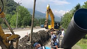 Sapanca Belediyesi'nden Yağmursuyu Kanal Çalışması