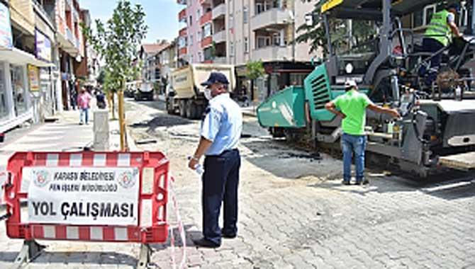 """""""617 Nolu Sokakta Sıcak Asfalt Çalışmaları Başladı"""""""