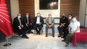 CHP HEYETİ, İL BİNASINDA TOPLANTI YAPTI