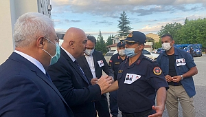CHP HEYETİ İL JANDARMA KOMUTANLIĞI'NDAN BİLGİ ALDI