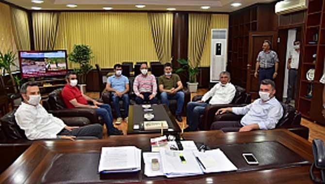 """DSİ Bölge Müdürü Kağan Şan'dan Başkan Sarı'ya İadeyi Ziyaret"""