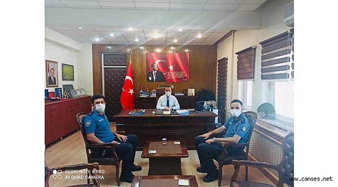 Halef-Selef Emniyet Amirlerinden Kaymakam Arslantürk'e Ziyaret