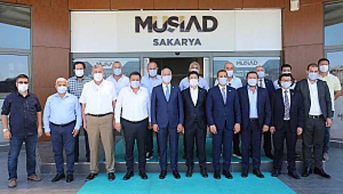 SATSO Yönetim Kurulundan MÜSİAD Sakarya'ya Hayırlı Olsun Ziyareti