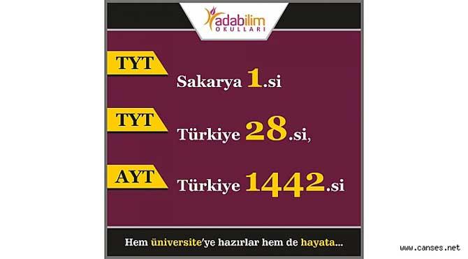 YKS SAKARYA 1.'Sİ ADABİLİM'DEN
