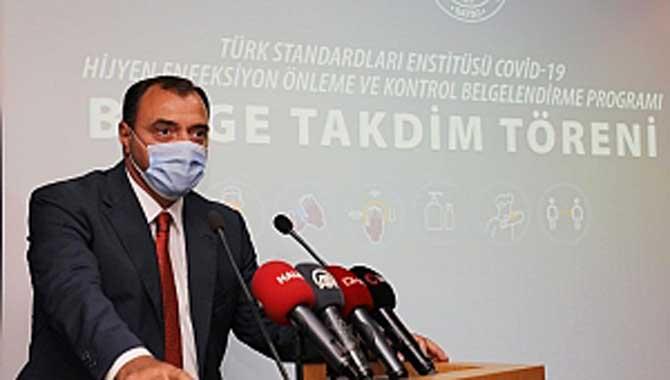 İlimizde TSE COVİD-19 Hijyen Enfeksiyon Önleme ve Kontrol Belgelendirme Takdim Töreni Düzenlendi