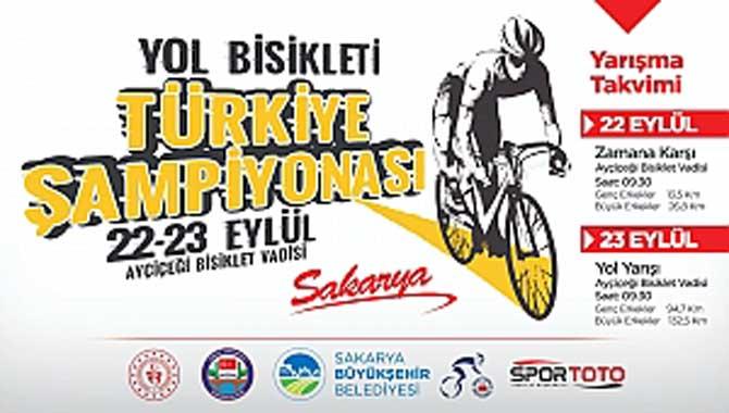 Yol Bisikleti Türkiye Şampiyonası 22 Eylül'de Sakarya'da başlıyor