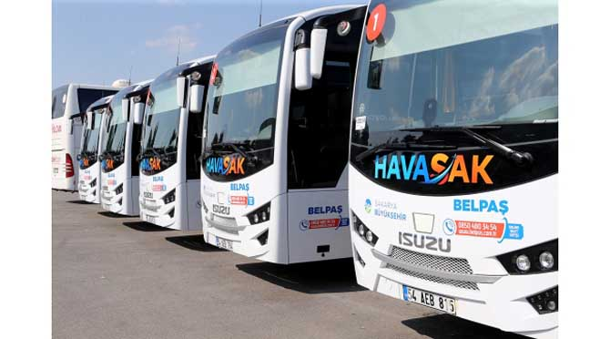 3 bin yolcu HAVASAK'ı tercih etti
