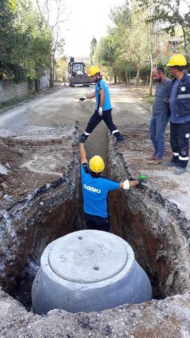 Ferizli Kemalpaşa Mahallesi'ne bin metrelik yeni kanalizasyon hattı