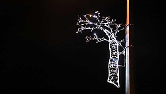 Karaman'a dekoratif aydınlatma
