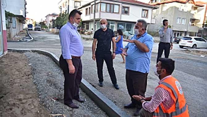 """""""Karasu Belediyesinden Yeni Tip Beton Bordür Uygulama Sistemi"""""""