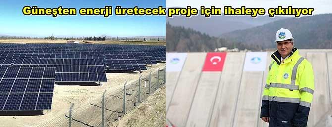 Güneşten enerji üretecek proje için ihaleye çıkılıyor