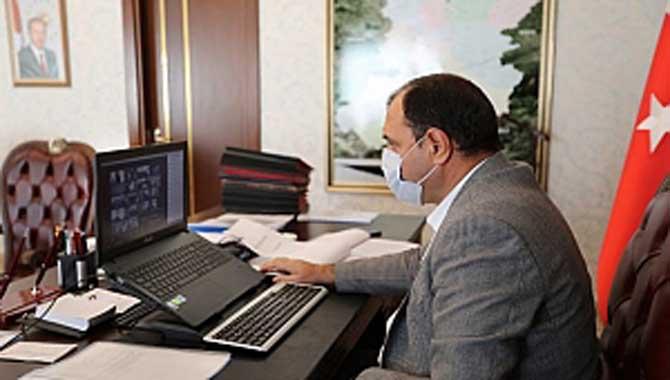 Koronavirüs Değerlendirme Toplantısı Kaldırım'ın Başkanlığında Yapıldı