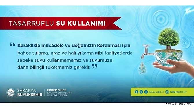Büyükşehir'den tasarruflu su kullanımı uyarısı