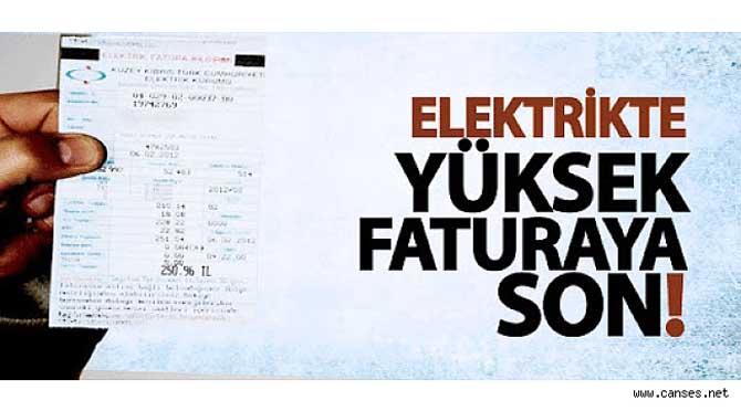 Elektrik'te yüklü fatura derdine Son!..