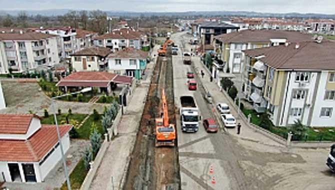 Süleyman Binek Caddesi'nde zemin iyileştirme çalışmaları başladı