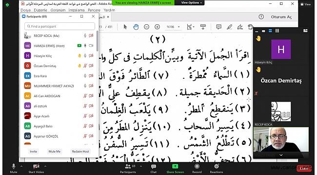 İlahiyat Fakültesinden Öğretmenlere Arapça Metin Okuma Eğitimleri