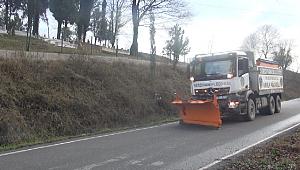 Serdivan'da Ekipler Yoğun Kar Yağışına Hazır