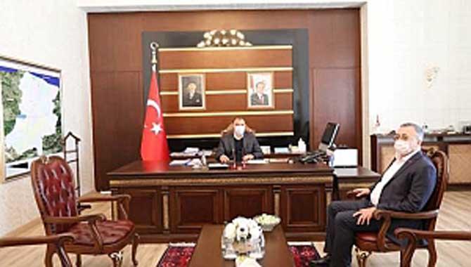 Balcı'dan Vali Kaldırım'a ziyaret