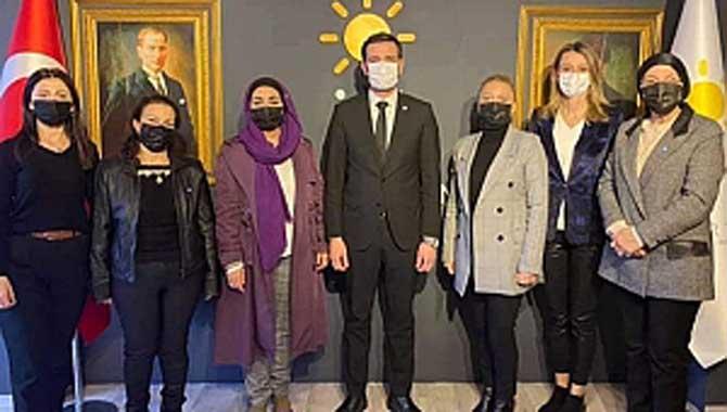 İYİ Parti Divan Kurulu üyeleri İlçe Teşkilat Başkanlarını ziyaret etti